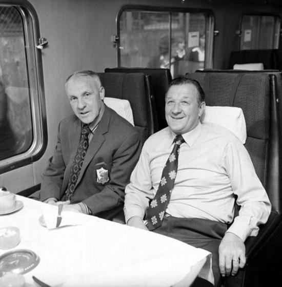 Bob Paisley til høyre var hjernen bak Liverpools lille revolusjon på midten av 70-tallet: Heretter skulle klubben spille ballbesittende fotball.
